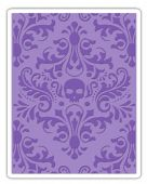Sizzix Texture Fades A2 Embossing Folder - Skull Damask - 662390